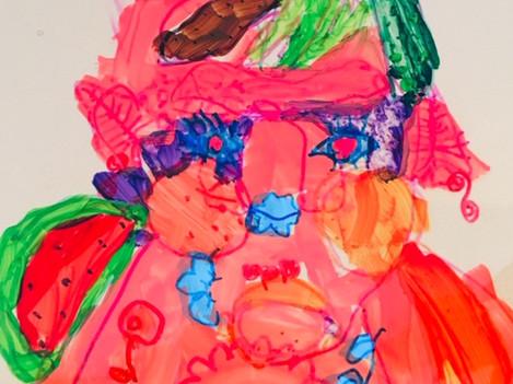 Arciboldo inspired self portraits - 5-7 year olds