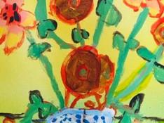 5-7 year old Flower still life