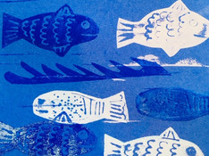 Fish relief prints - 5-7 year olds