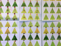 Triangle Tree design and mark making