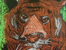 Basquiat Inspired Dinosaur Painting