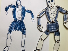 drawing from poseable sculptures