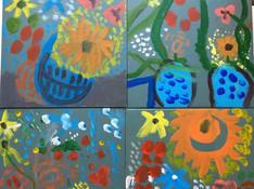 Odilon Redon inpsired Still Life acrylic on canvas