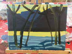Winter Landscape, Acrylic on Canvas