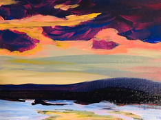 Glarence Gagnon inspired landscape - Adults