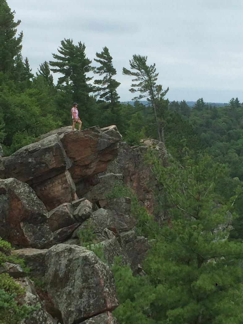 CALABOGIE HIKER: Calabogie Highlands, Ontario, Canada.