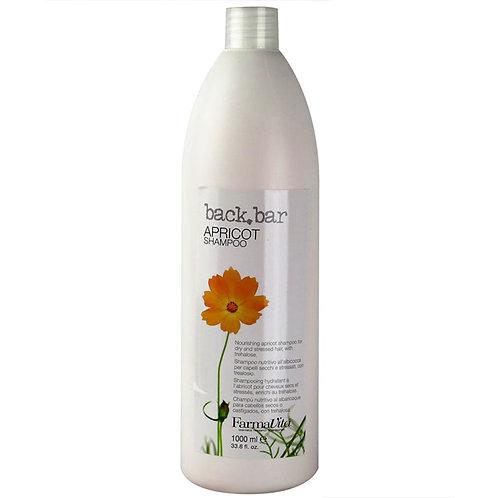 BACK.BAR Apricot Nutritive Shampoo - Aprikoosiekstrakti sisaldav juukseid toitev śampoon 1000ml
