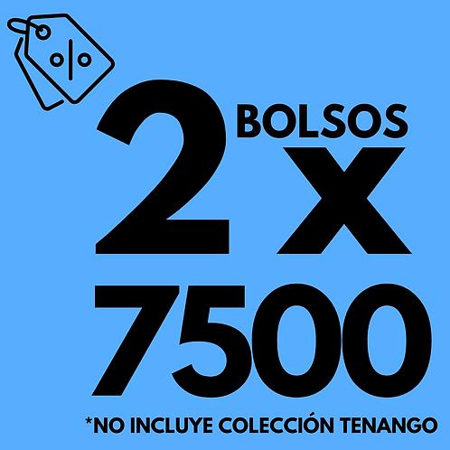 2 BOLSOS POR