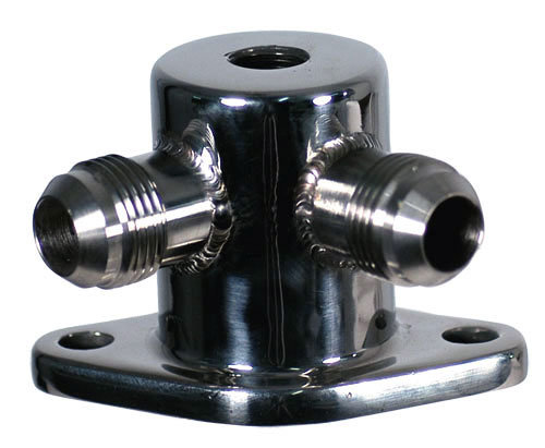 Polished 316L Stainless Steel Water Outlet -10 AN