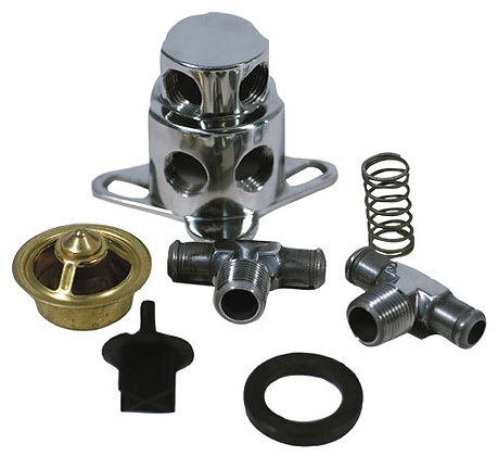 Polished Stainless Thermostat Kit For Chevy, 455 O
