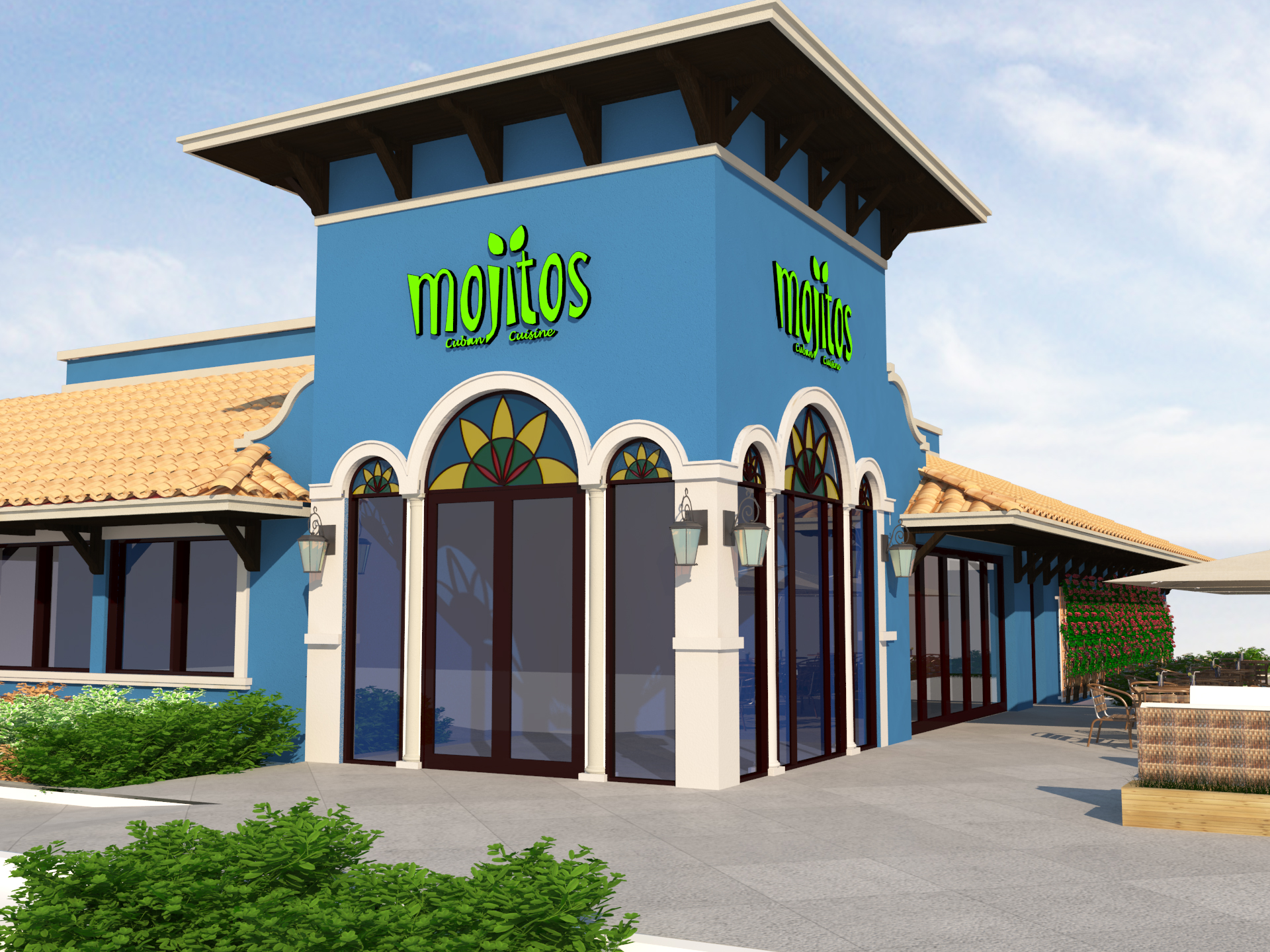 Mojitos Restaurant Render