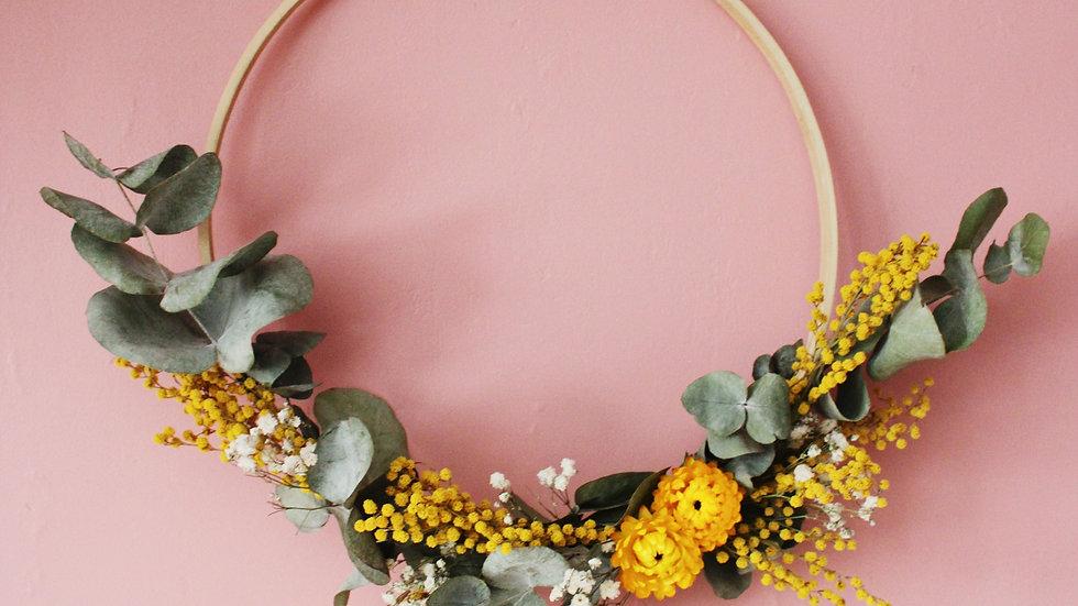 Atelier / Couronne murale de fleurs séchées