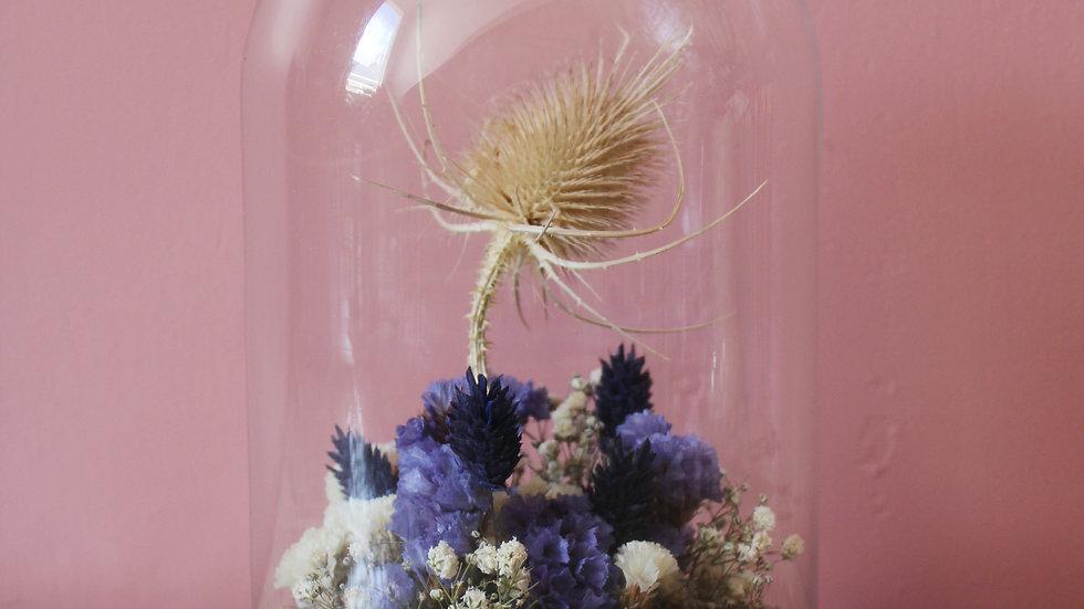 Cloche fleurie / Nuances de bleues