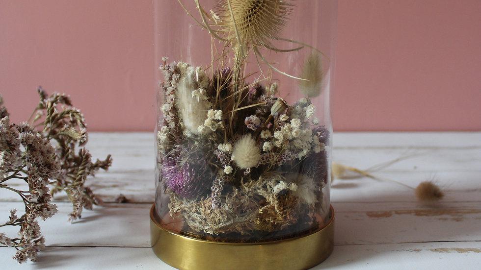 Atelier / Cloche de fleurs séchées