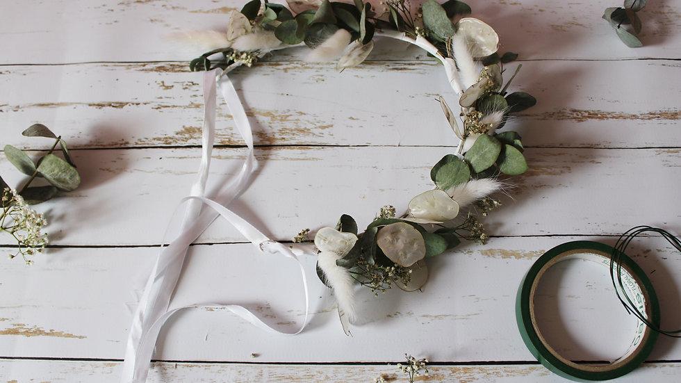 Atelier / Couronne de fleurs séchées