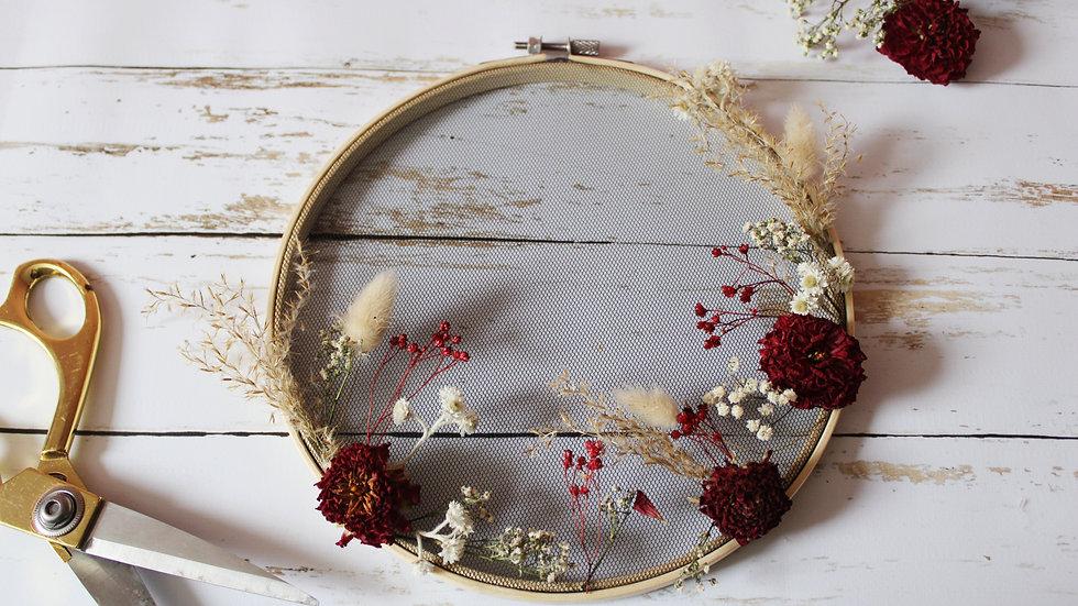 Atelier / Tambour de fleurs séchées