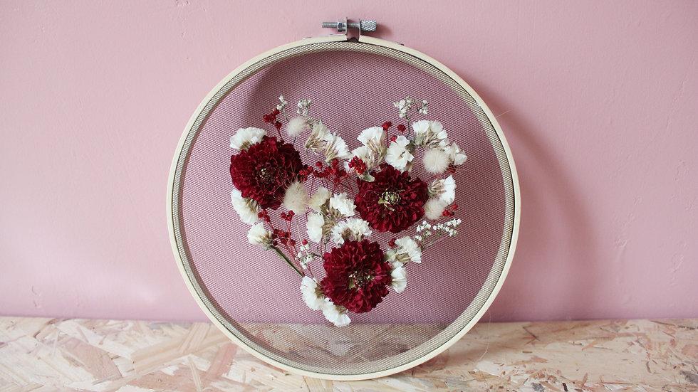 Tambour fleuri / Coeur