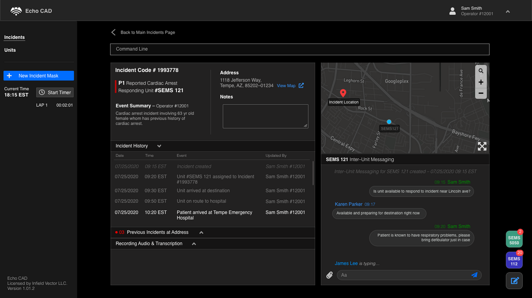 Detailed Incident Page