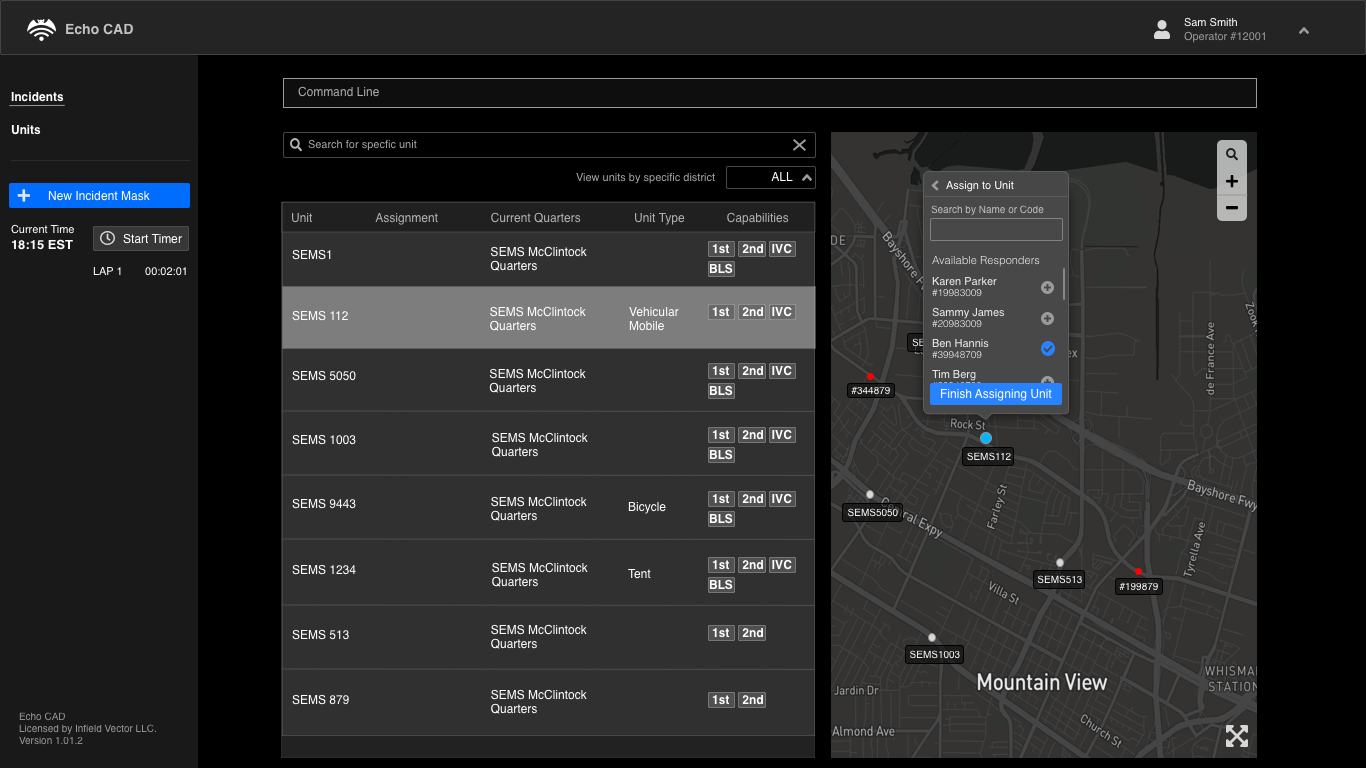 Unit Map Page