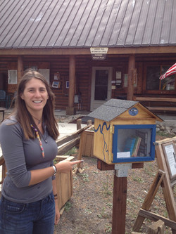 Aly at former home at Carson Pass