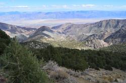 looking down ridge and Hanaupah (R)