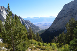 towards Owens Valley and the Inyos