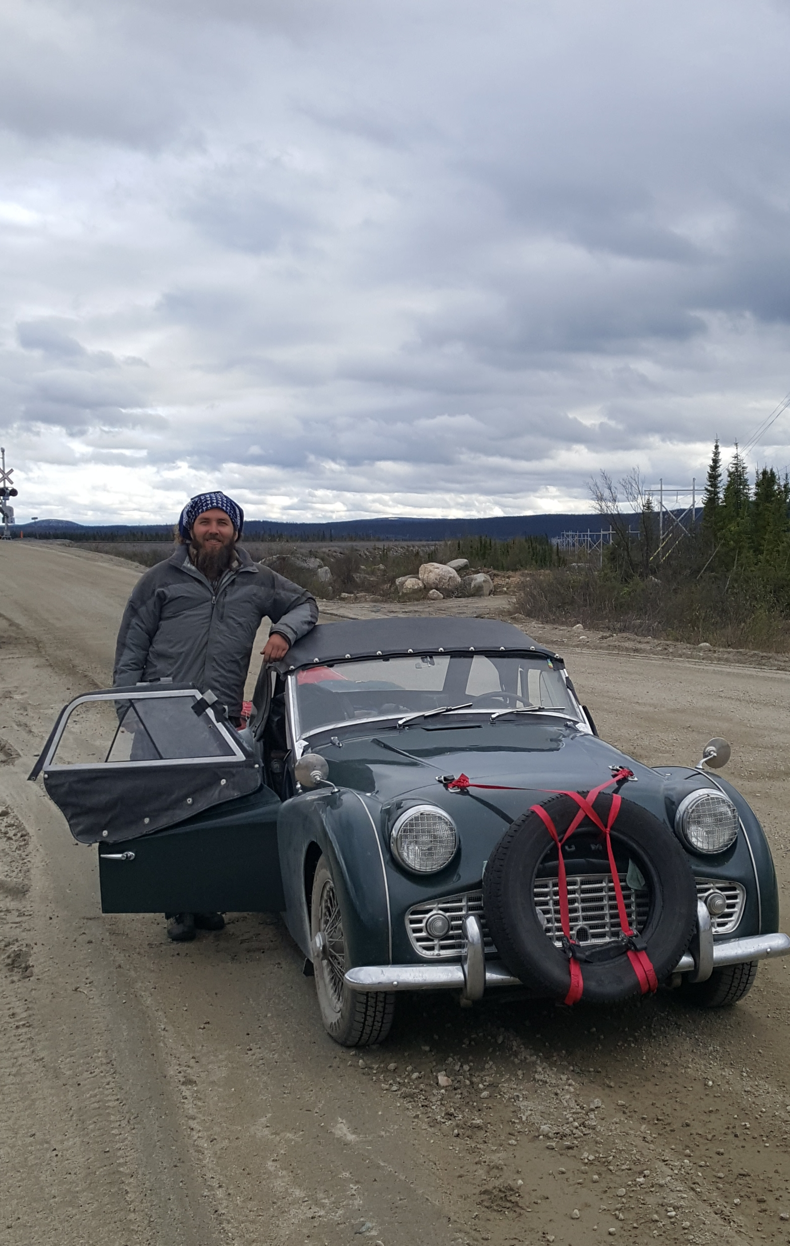 Driving across remote Quebec