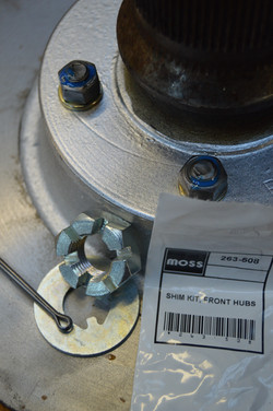 Hub assembly shimmed and calibrated