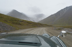 Heading into the snowy Brooks Range