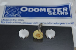 New odometer and tripmeter gears