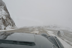 Road turns to Sheet of ICE