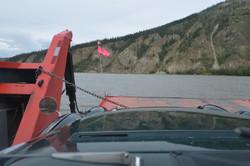 Crossing Yukon River by Ferry