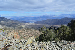 up and up into the Inyo Range