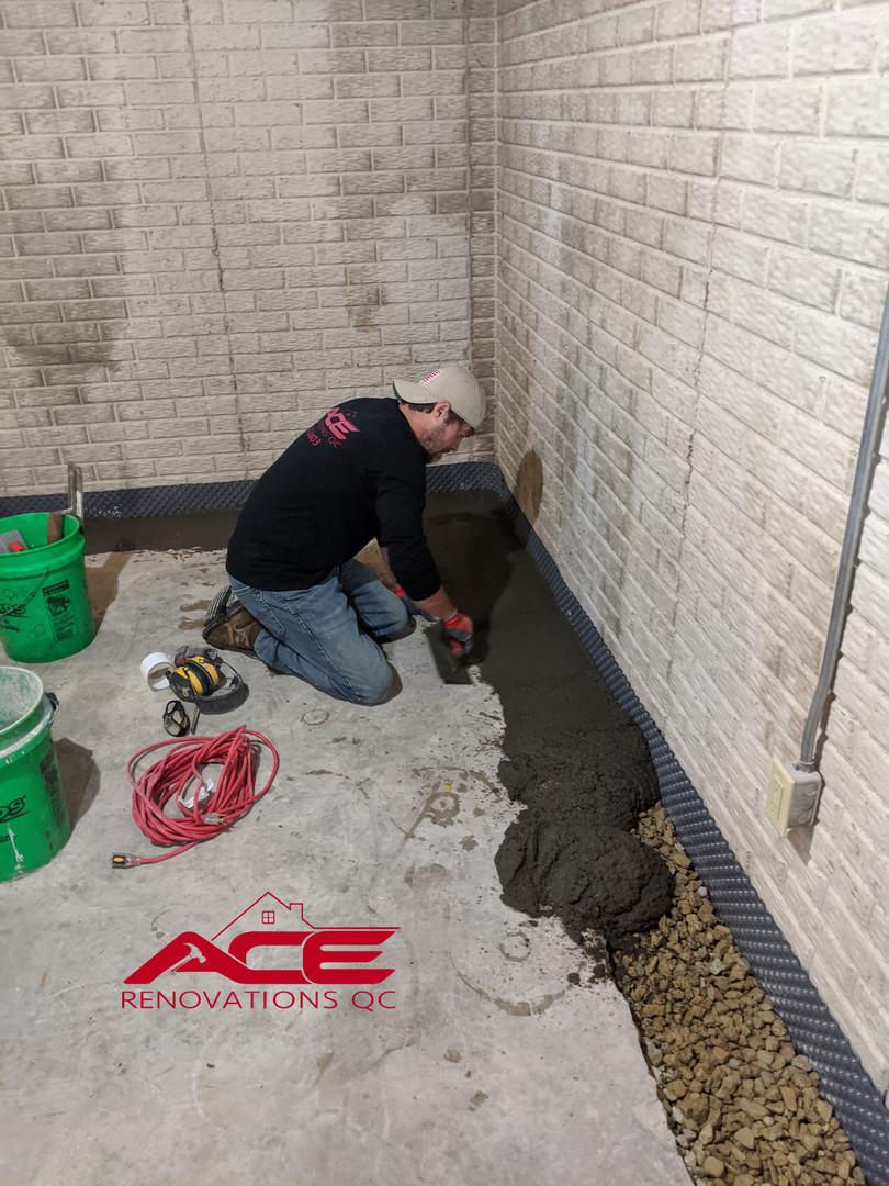 Drain Tile System Installation - Waterproofing