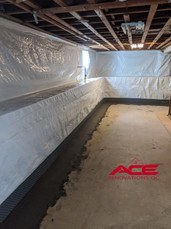 Interior Drain Tile System - Basement Waterproofing project