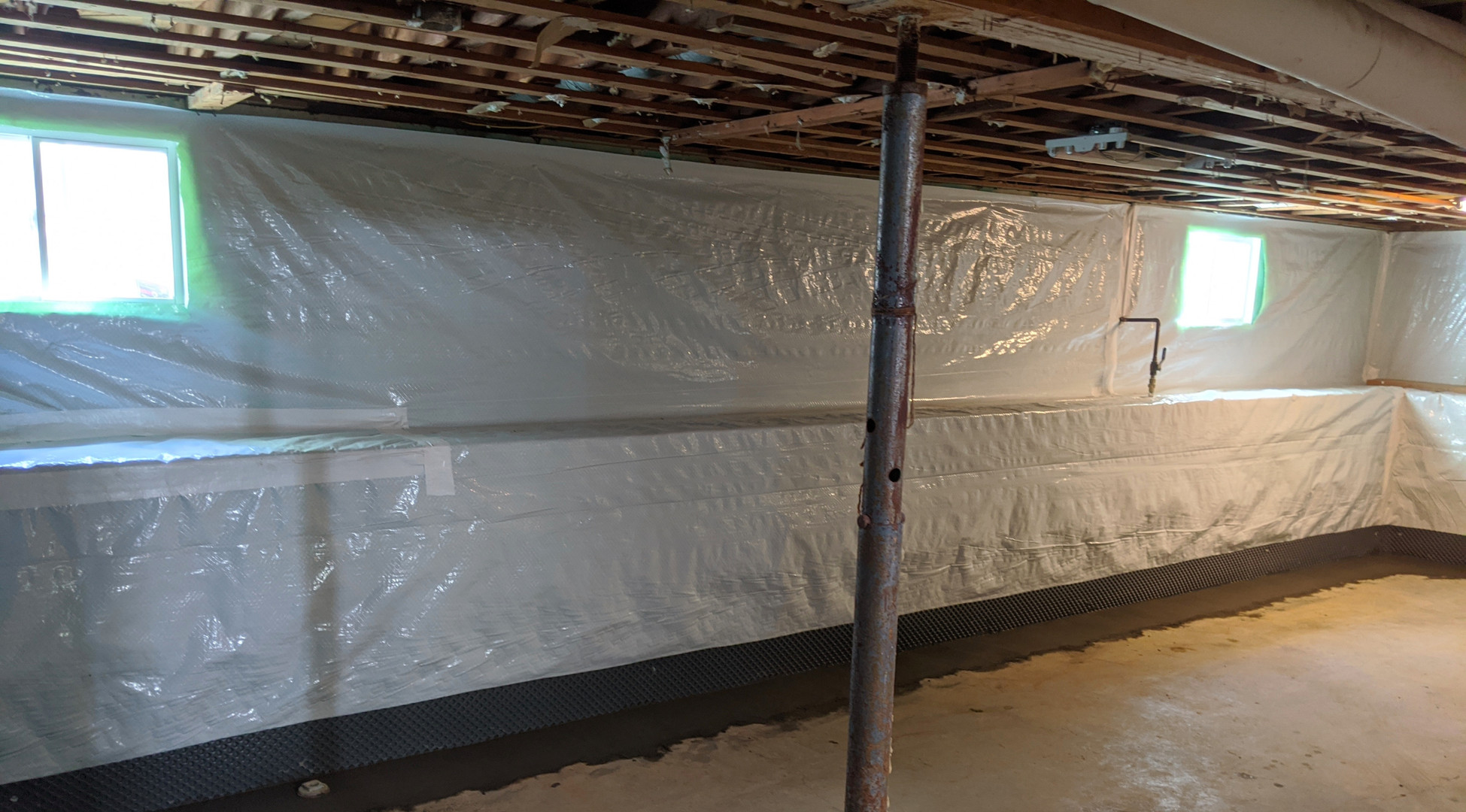Interior Drain Tile System Installation