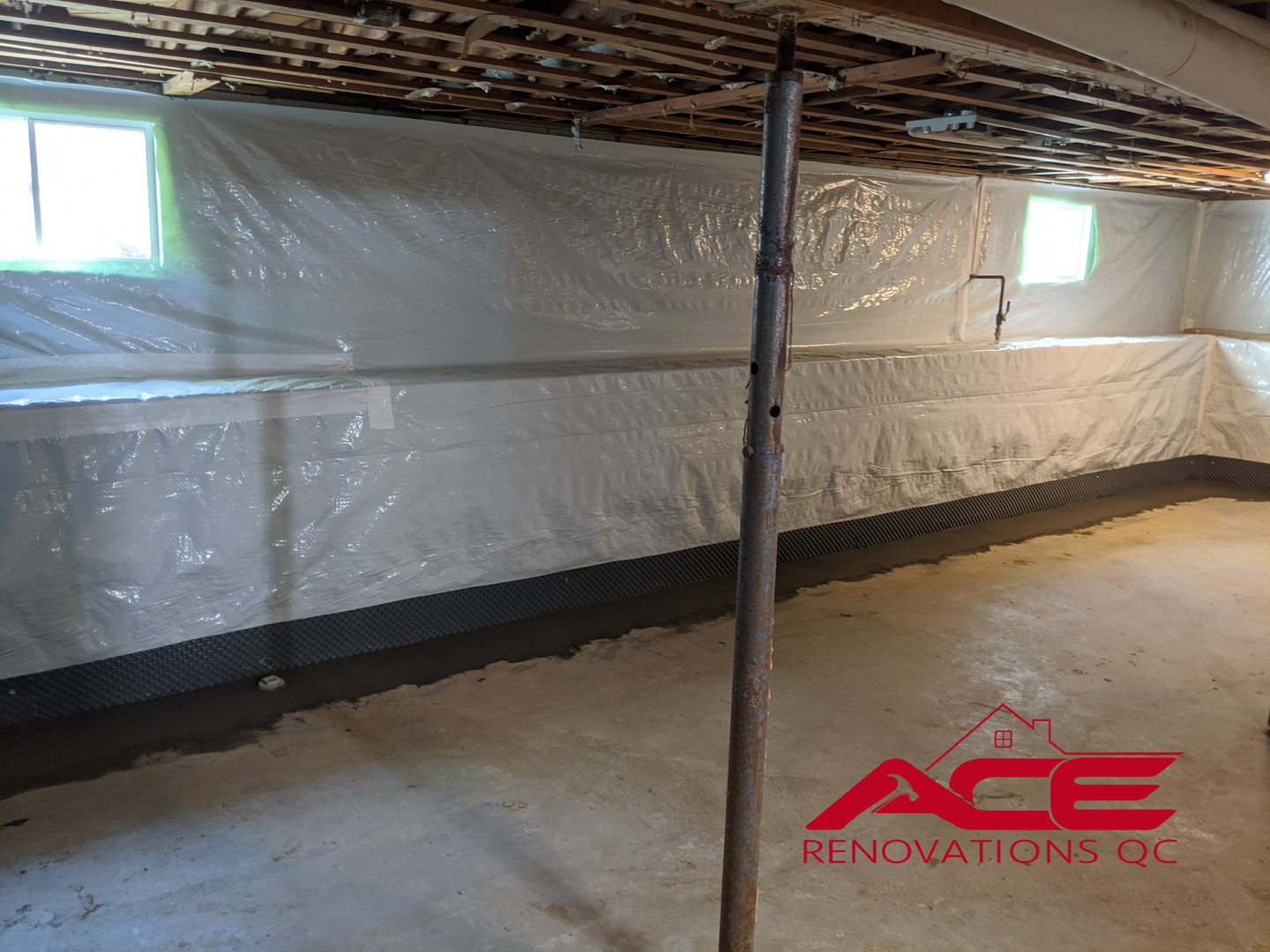 Drain Tile System - Waterproofing project
