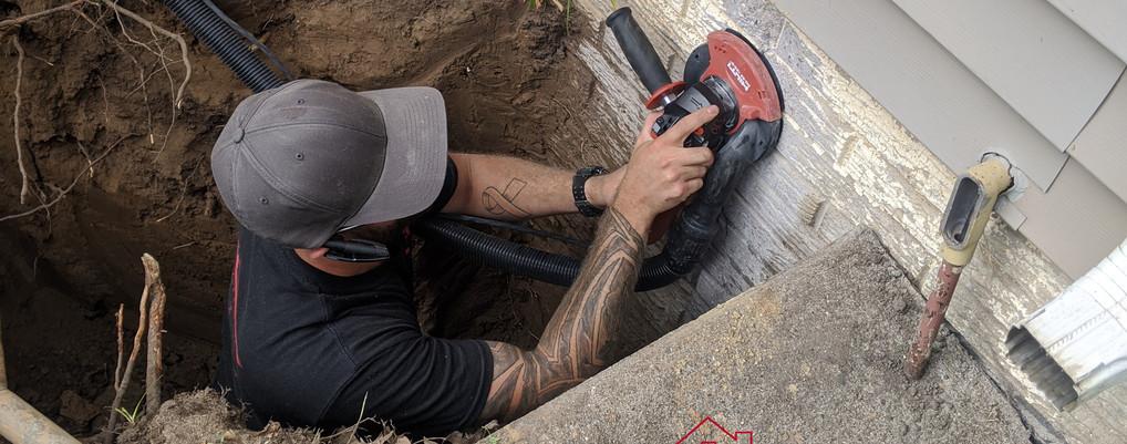 Sanding the crack.jpg