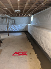 Interior Drain Tile System Installation - Basement Waterpoofing