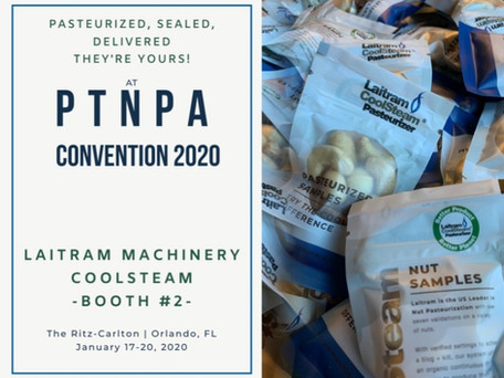 Try the Laitram CoolSteam difference at the 2020 PTNPA Convention!