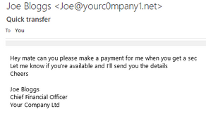 Why is my boss asking me to make a suspicious payment?