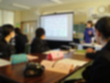 川口市立八幡木中学校での授業の様子