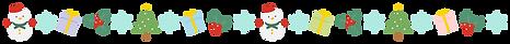 雪だるま・雪の結晶・プレゼント・ヒイラギ・クリスマスツリー