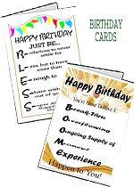 Birthday Cards - Individual
