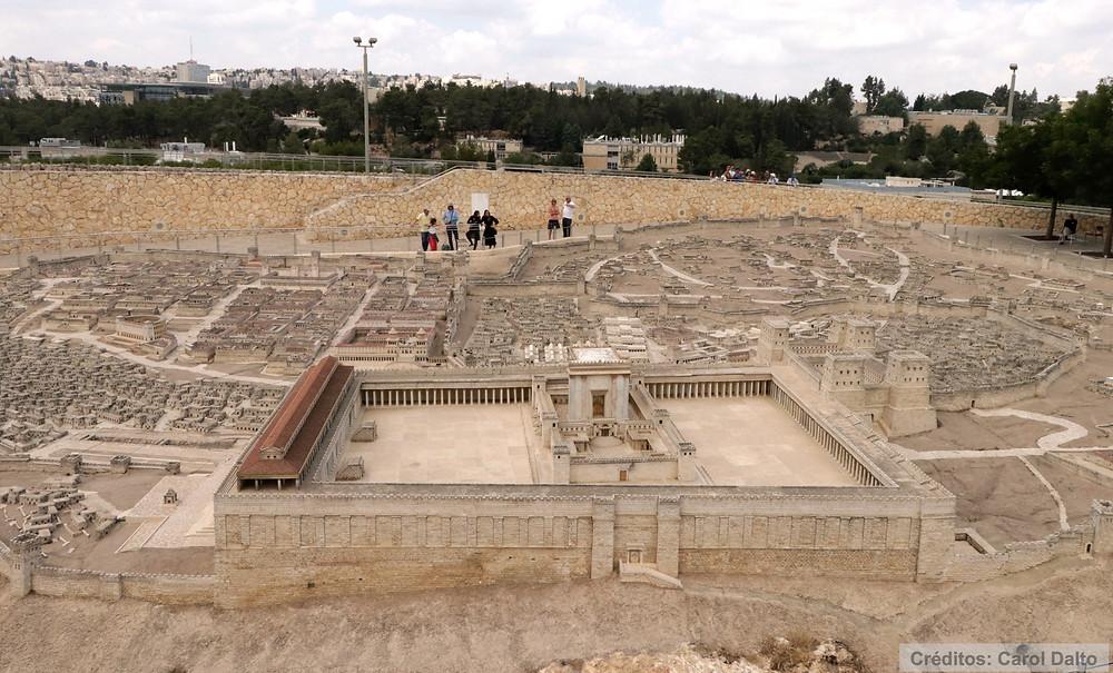 Museu de Israel - O Modelo do Segundo Templo de Jerusalém recria a cidade de 66 d.C.
