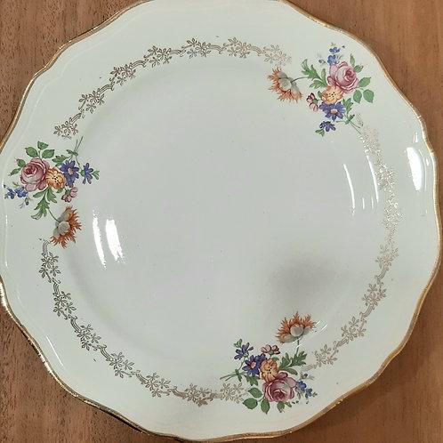 Assiette plate fleurie l'Amandinoise
