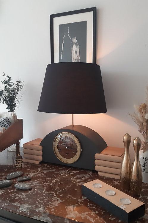 Lampe horloge art déco