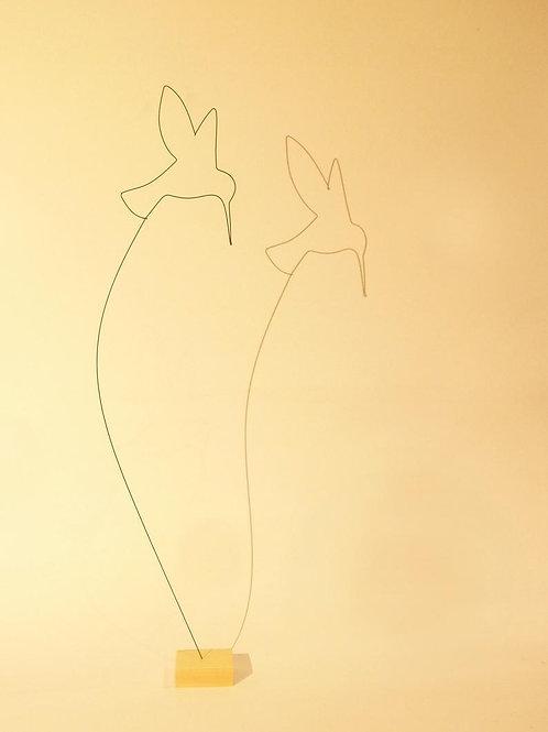 Colibri sur socle