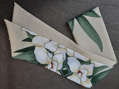 Twilly beige et fleurs