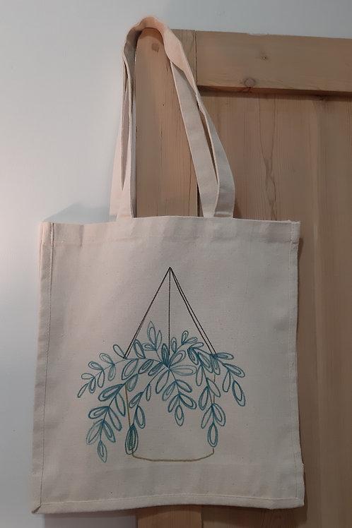 Tote bag décoré à la main